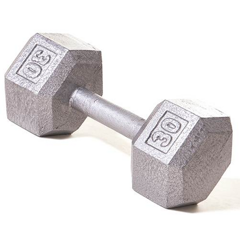 Champion Barbell 30lb Solid Hex Dumbbells - Givhony