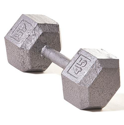 Champion Barbell 45lb Solid Hex Dumbbells - Givhony