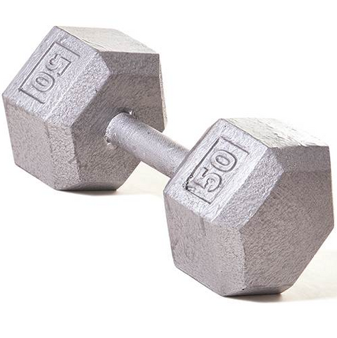 Champion Barbell 50lb Solid Hex Dumbbells - Givhony