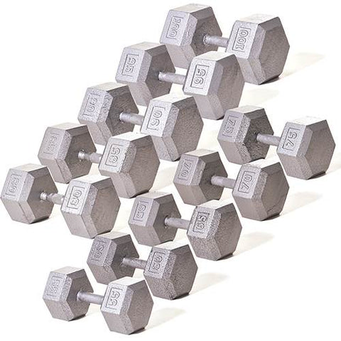 Champion Barbell Solid Hex Dumbbell Set (55-100 lb.) - Givhony
