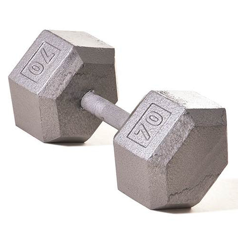 Champion Barbell 70lb Solid Hex Dumbbells - Givhony