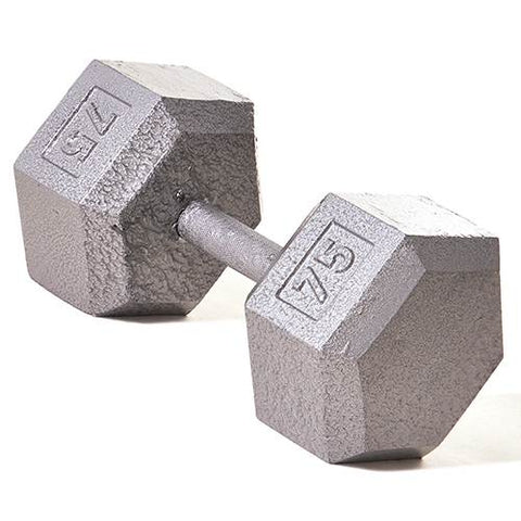 Champion Barbell 75lb Solid Hex Dumbbells - Givhony