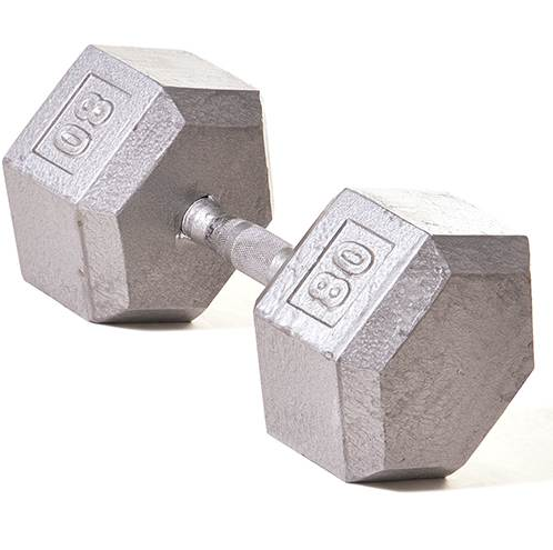 Champion Barbell 80lb Solid Hex Dumbbells - Givhony