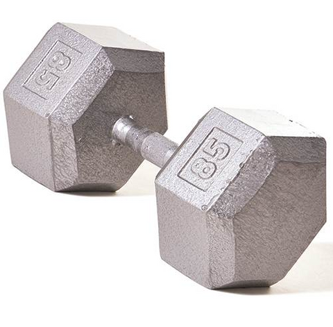 Champion Barbell 85lb Solid Hex Dumbbells - Givhony