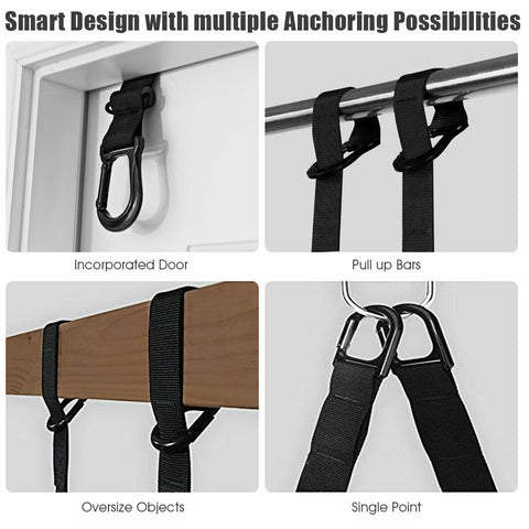 Image of Bodyweight Fitness Resistance Straps Trainer with Adjustable Length - Givhony