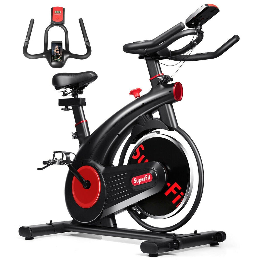 Superfit Stationary Exercise Bike Silent Belt with 20 LBS Flywheel - Givhony