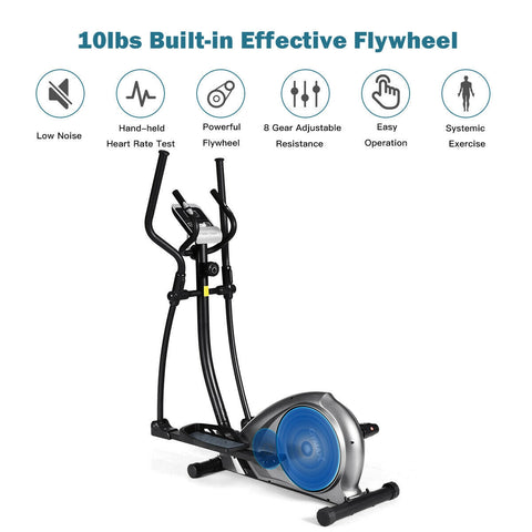 Gymax Magnetic Elliptical Machine Trainer Bike - Givhony