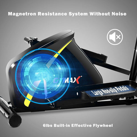 Gymax Magnetic Elliptical Machine Trainer for Home Gym Exercise - Givhony