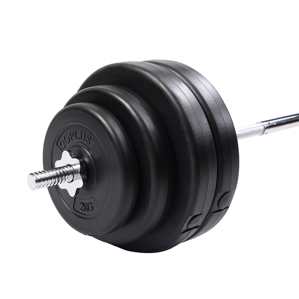 132 lbs Gym Lifting Exercise Barbell Dumbbell Set - Givhony