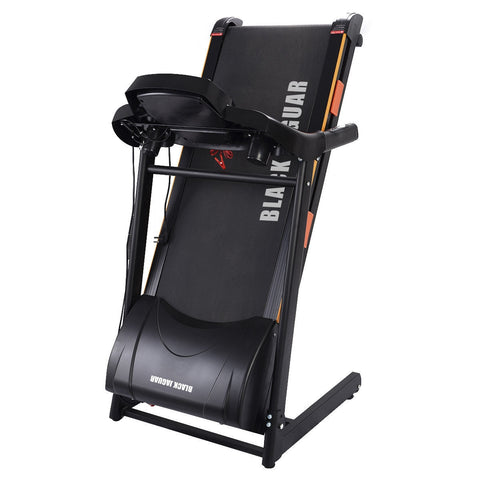 Black Jaguar 1000 W Folding Electric Treadmill - Givhony