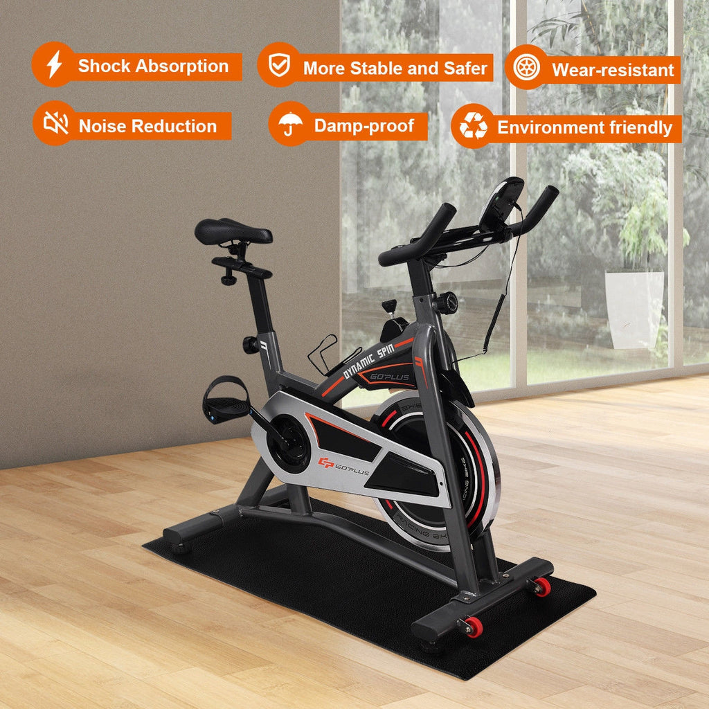 "47"" x 24"" Exercise Equipment PVC Mat Gym Bike Floor Protector - Givhony"