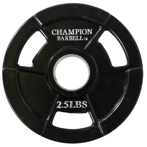 Champion Barbell Rubber Coated Olympic Grip Plate 2.5lb - Givhony