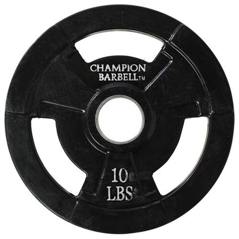 Champion Barbell Rubber Coated Olympic Grip Plate 10 lb - Givhony