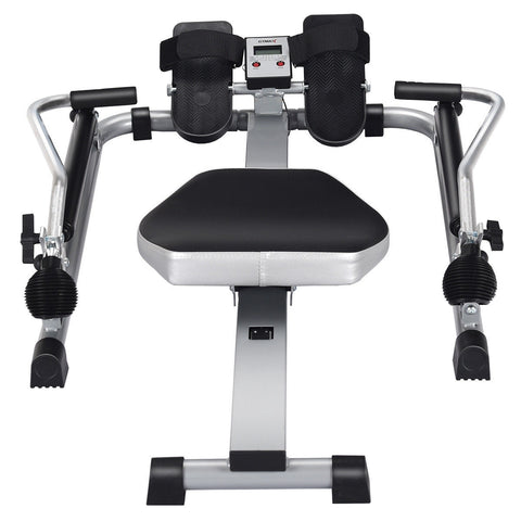 Image of Gymax Adjustable Double Hydraulic Resistance Rowing Machine - Givhony