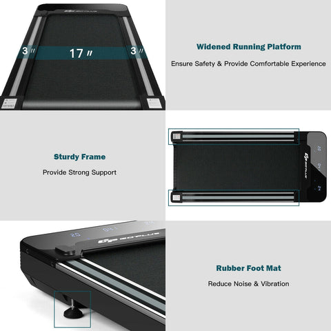 GoPlus 1 HP Walking Treadmill with Remote Controller - Givhony