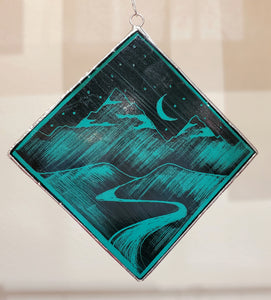Square Ornament: Night Sky,  Kiki Renander