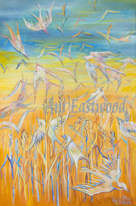 """Birds and Wheat""  2017 Ani Eastwood"