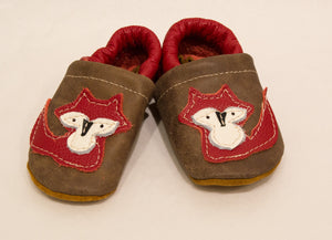 Baby Shoes Red Fox, Size 6( fits12 month) Starry Knight Design