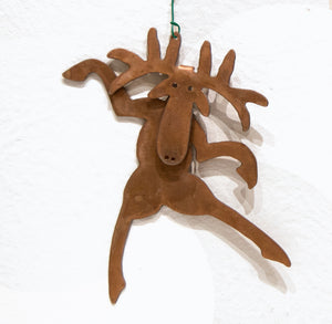 Larson Metal Moose Ornaments (Set of 2 )