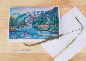 """Morning on the River"" 5x7 Card (Singles or 3 Pack).  Ani Eastwood"