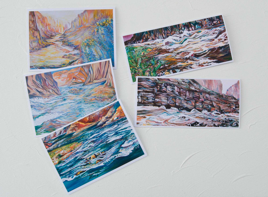 Grand Canyon White Water Greeting Card Assortment 5 cards for $20, Ani Eastwood