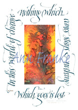Load image into Gallery viewer, Calligraphy Greeting Card Variety: 5 Cards, Ann Franke