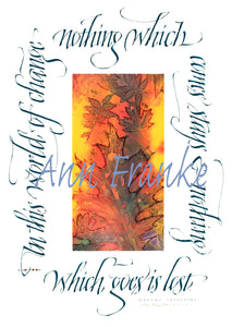 Calligraphy Greeting Card Variety: 5 Cards, Ann Franke