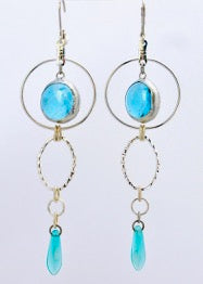 Long Loop Dangle Glass Earring, Monica van der Mars