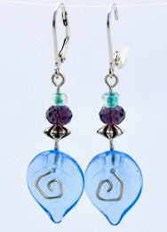 Swirl Earring on Sterling Leverback, Monica van der Mars
