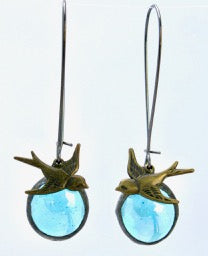 Long Swallow Earrings on Kidney Wire, Monica van der Mars