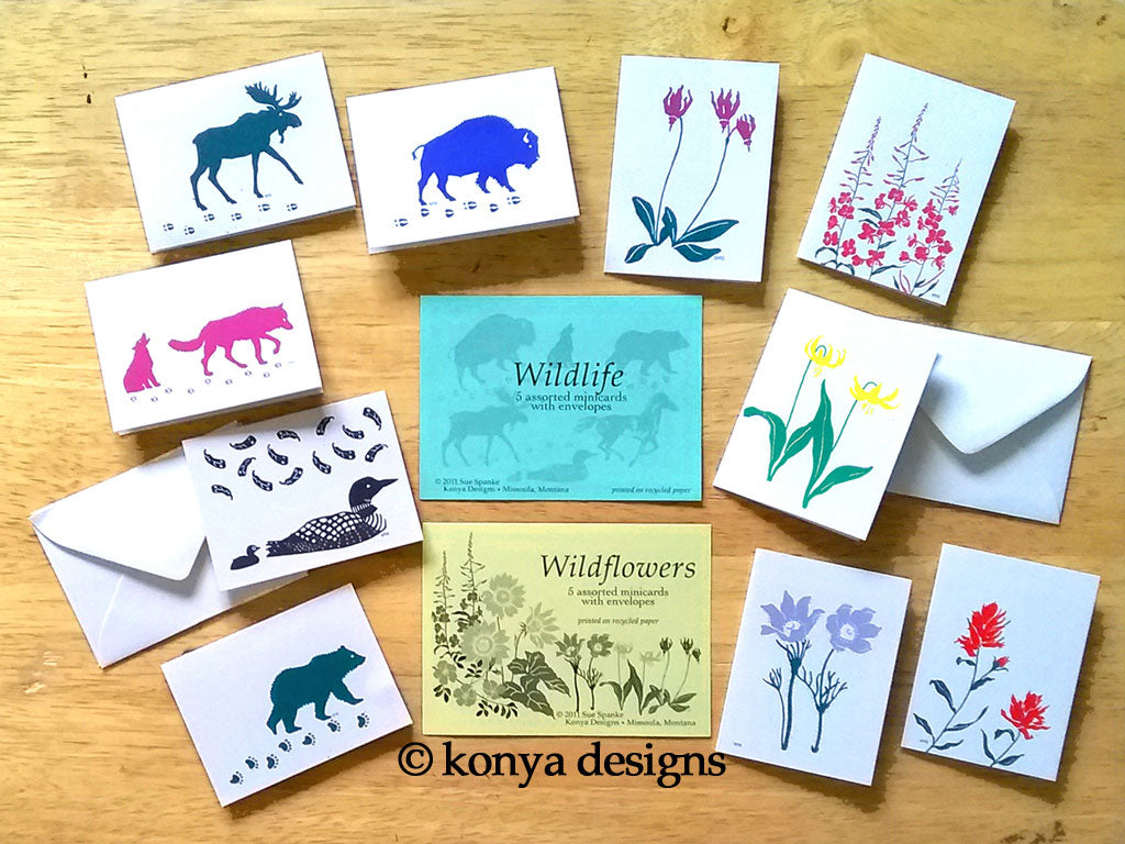 Mini Wildflower Card Assortment Packs, Konya Designs