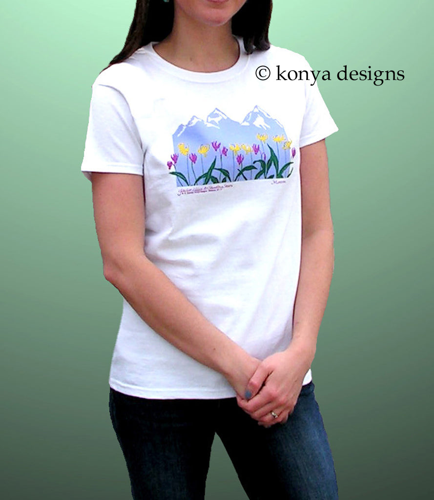 Glacier Lilies & Shooting Stars Lady's T-Shirt (Short Sleeve and Long Sleeve)