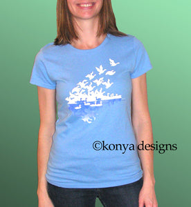 Shortsleeve Lady's Snowgoose T-Shirt, Konya Designs