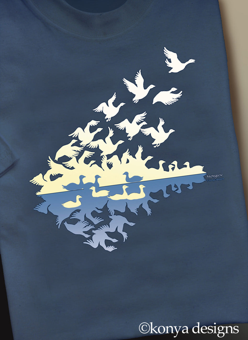 Men's (unisex) Snowgoose T (Shortsleeve or Longsleeve) Konya Designs