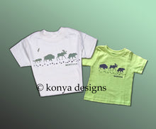 Load image into Gallery viewer, Infant and Kid's Wildlife Parade T-shirt, Konya Designs
