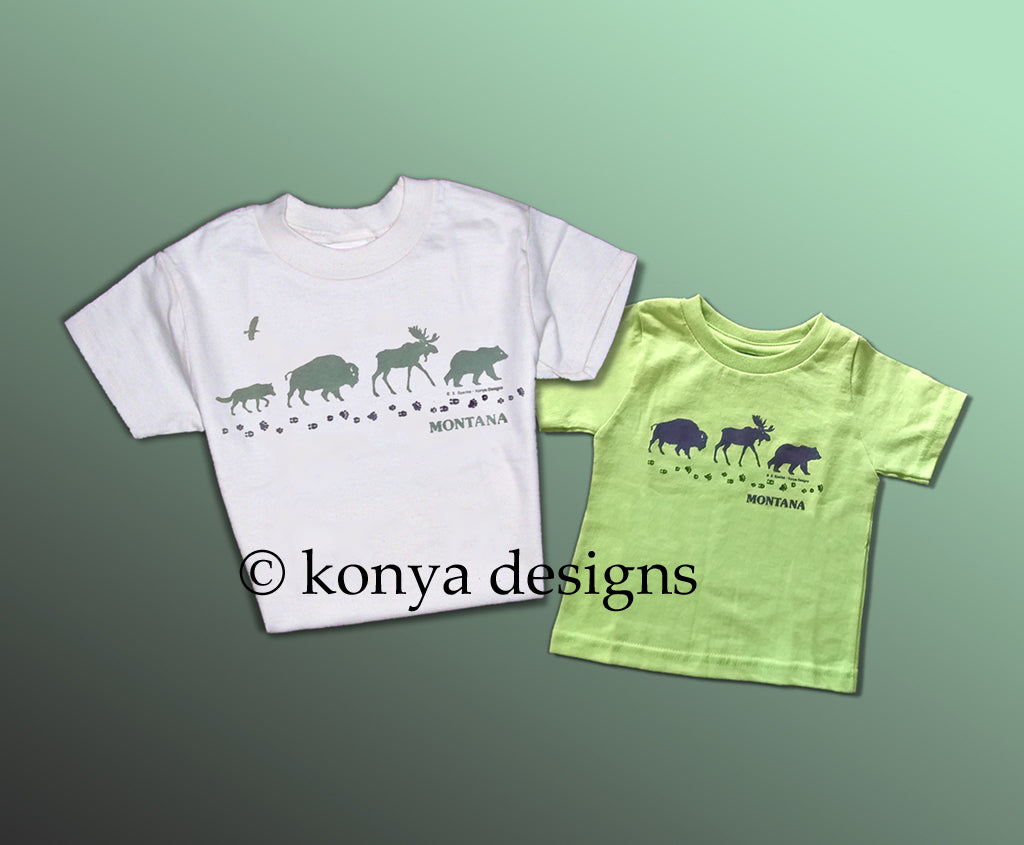 Infant and Kid's Wildlife Parade T-shirt, Konya Designs