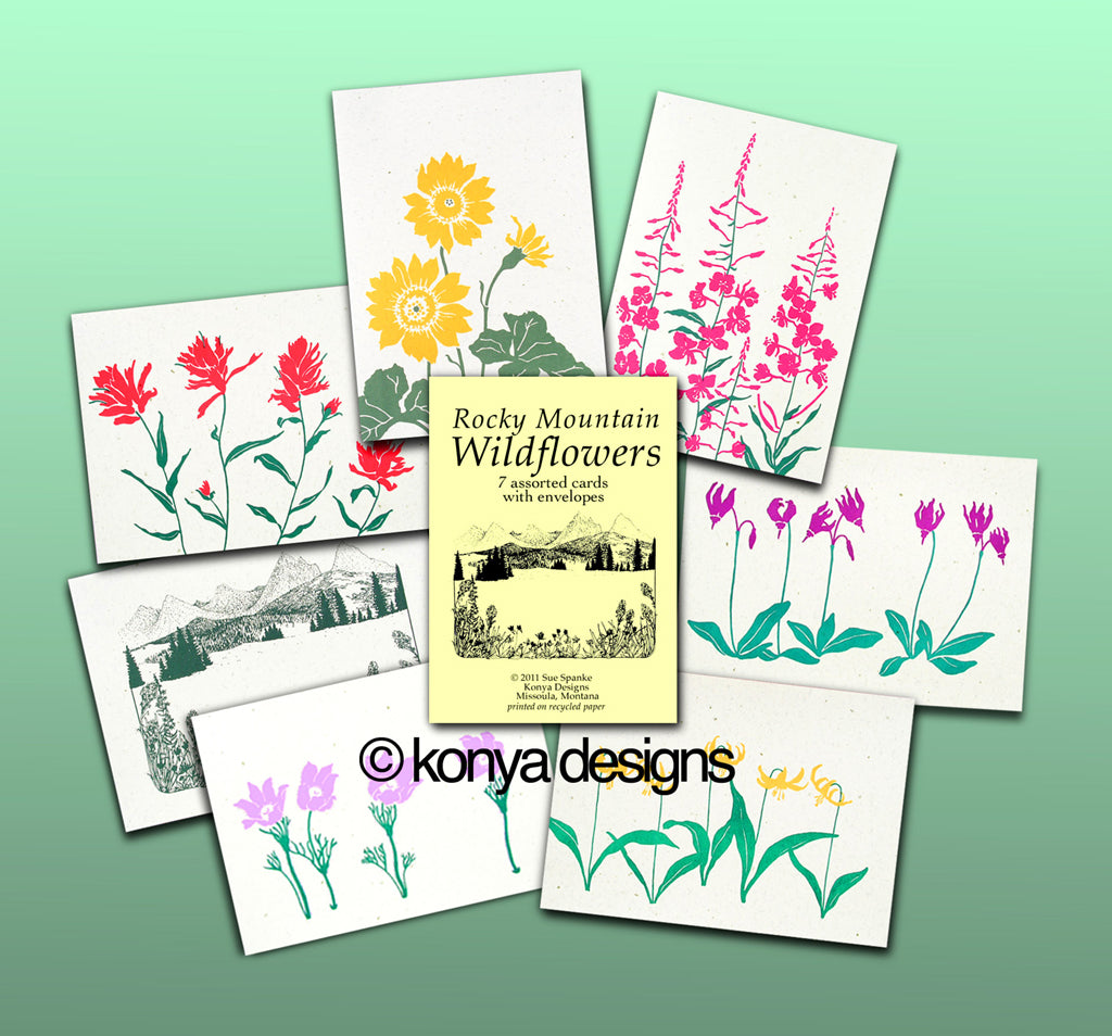 Wildflower Card Assortment Pack, Konya Designs
