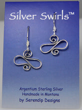 Load image into Gallery viewer, Shiny Argentium Silver Wavy Spiral Earrings, SE10, Lois Linn Jewelry