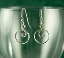 Load image into Gallery viewer, Little Shiny Silver Circle Earrings, Argentium Sterling Silver, SE60 , Lois Linn Jewelry