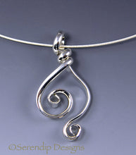 Load image into Gallery viewer, Argentium Sterling Silver Double Spiral Pendant, SN3, Lois Linn Jewelry