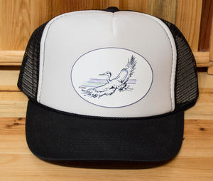 Blue Heron Trucker Hat, Ani Eastwood