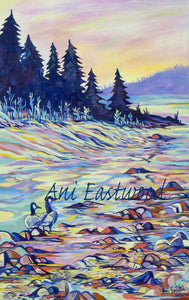 """Geese on the Blackfoot River"" 2016 Ani Eastwood"