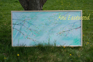 """Spring Apple Blossoms"" Ani Eastwood, Original Oil 2020"