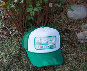Spring Bloom Montana Trucker Hat, Ani Eastwood