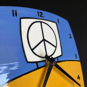 Yellow and Blue Wall Clock, Glenn Parks