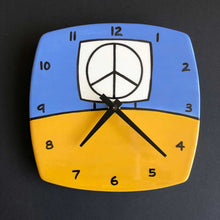 Load image into Gallery viewer, Yellow and Blue Wall Clock, Glenn Parks
