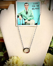 "Load image into Gallery viewer, 16"" -18"" Long Necklace ""Look for the Helpers"" Mr. Rogers, Monica van der Mars"