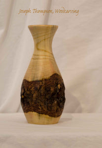 Small Juniper Vase 20, Joseph Thompson, Woodcarving