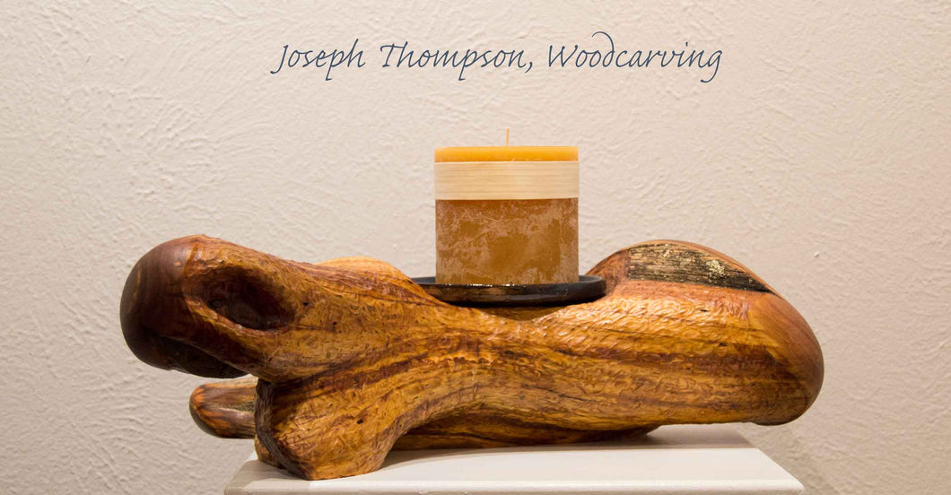 Juniper Candle (42) Joseph Thompson, Woodcarving