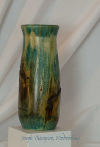 Aspen Vase (7) Joseph Thompson, Woodcarving